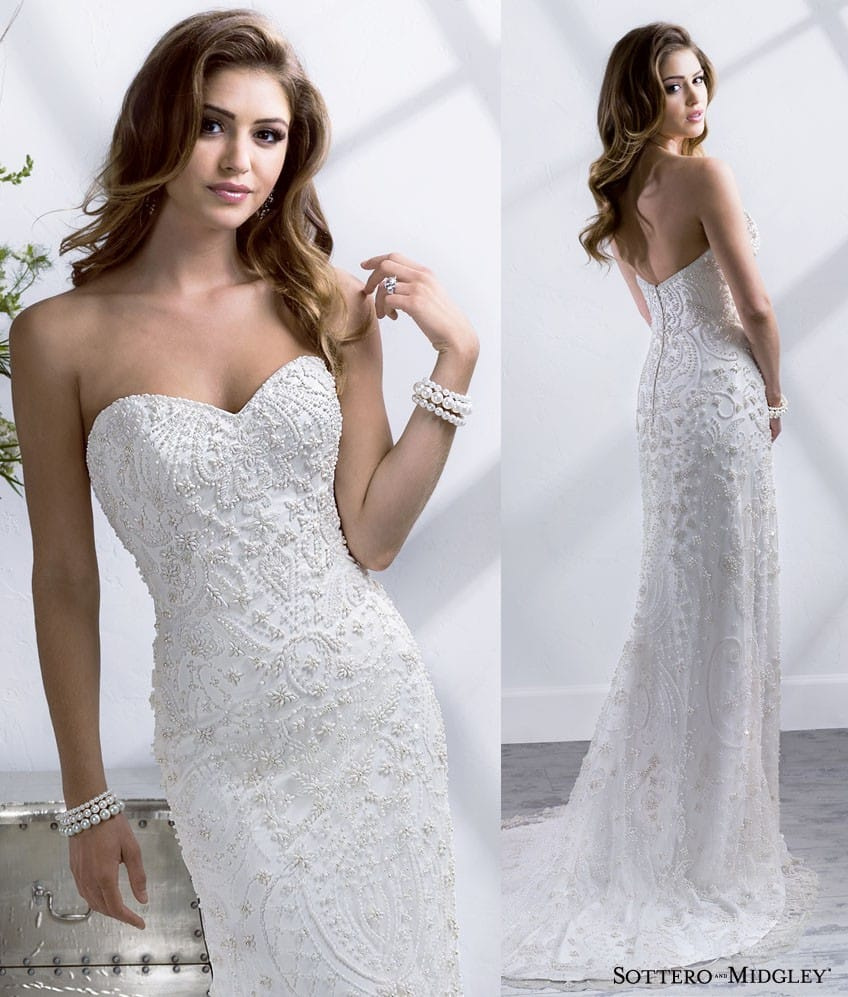 One of our favorite wedding dresses, Jenessa, from Spring 2014.