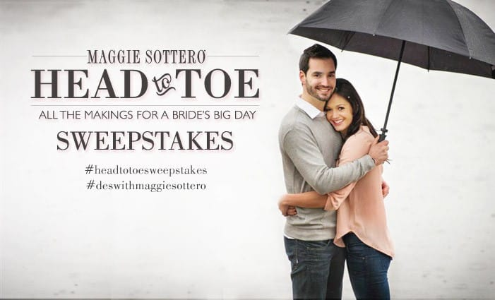 Enter to win a free wedding dress from Maggie Sottero with our Head to Toe Sweepstakes!