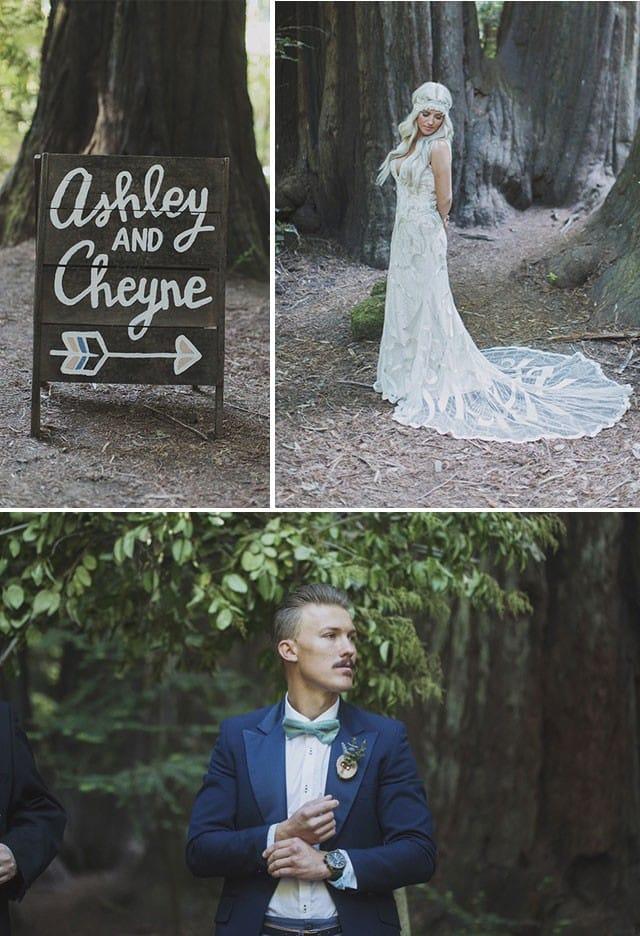 Maggie Bride, Ashley, wearing our Gianna wedding dress.