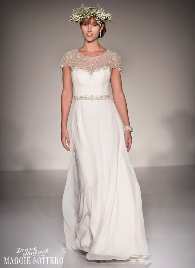 Desiree Hartsock with Maggie Sottero Spring 2015 wedding dresses.