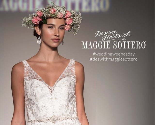 Desiree Hartsock with Maggie Sottero Spring 2015 collection.