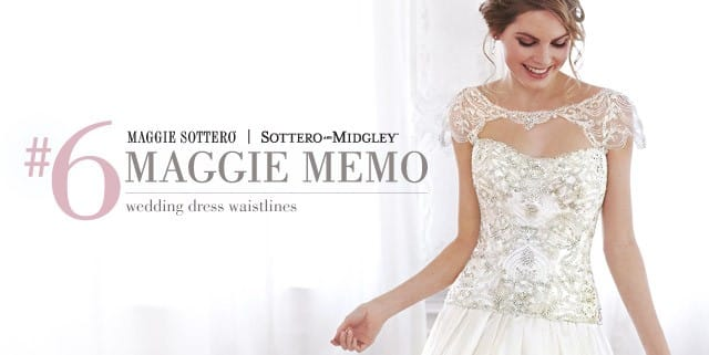 Use this guide for help in those ever tricky wedding dress waistlines.