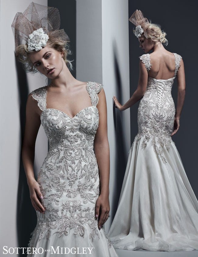 Kaya... A gorgeous Swarovski crystal mermaid wedding dress by Sottero and Midgley.